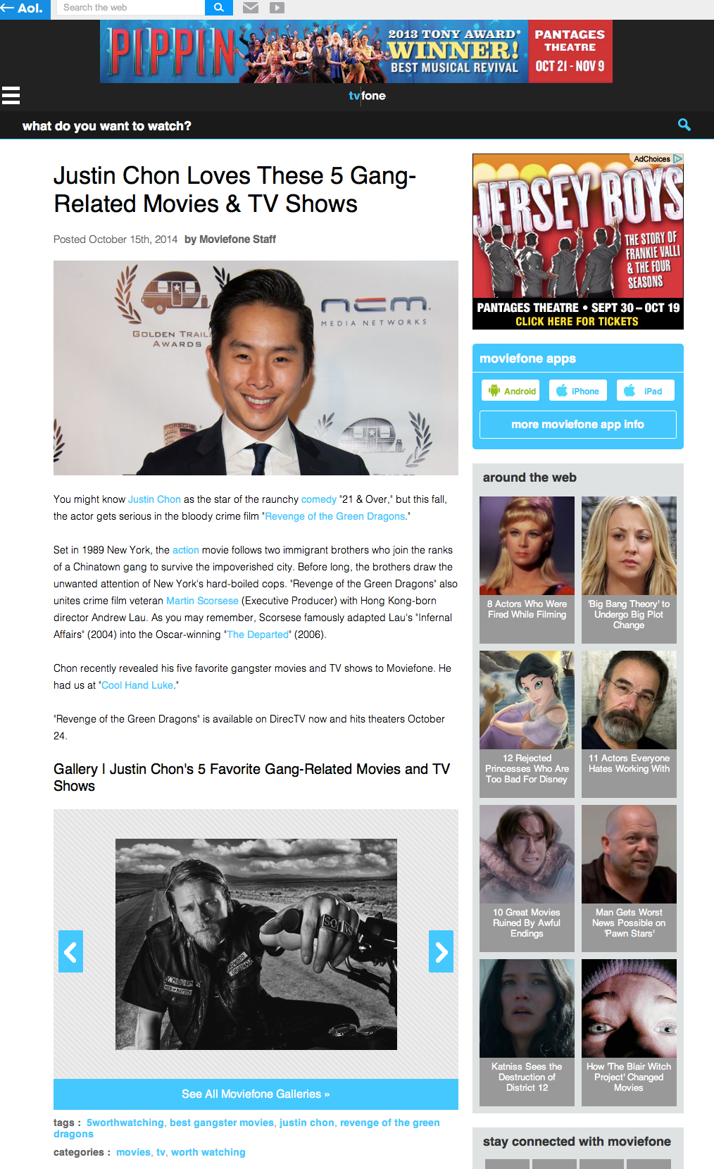 moviefone justin chon�s top 5 favorite films amp tv shows