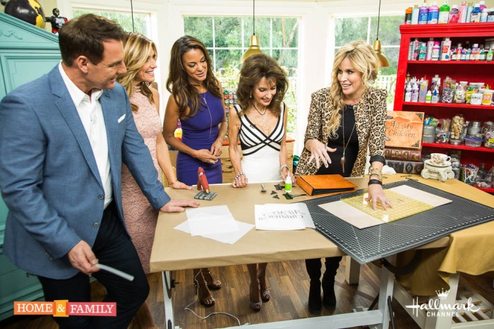"It's our ""All My Children"" reunion show. Mark Steines and Debbie Matenopoulos welcome guest host Susan Lucci. Actors Peter Bergman, Kim Delaney, Lawrence Lau, Eden Riegel, Kathleen Noone, Eva LaRue, John Callahan, Cameron Mathison, Jill Larson, and Michael E. Knight join us. Actress Taylor Miller cooks a homey chicken stew. We pay tribute to creator Agnes Nixon. Debbie makes a delicious no-fry fried ice cream. Susan shares her secret to staying fit. Paige Hemmis has a DIY photo album. Kym Douglas shows us how to look like a soap star. Lawrence Zarian has the hottest statement ensembles. Save money with Hollywood Steals and Sandie Newton. Credit: © 2017 Crown Media United States, LLC 
